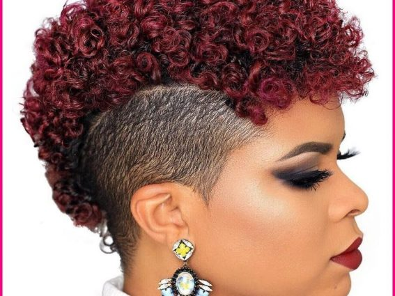 Burgundy on natural hair